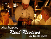 Now featuring Real Reviews by Real Diners